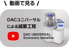 DACユニバーサルによる滅菌工程